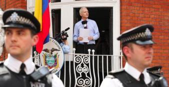 Julian Assange à l'ambassade d'Equateur