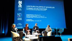 A Lyon, avec Sarah Harrison et Annegret Falter