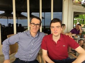Avec Dominic Thomas, le directeur du département de Français de UCLA.