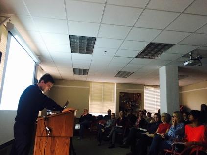 Lors de ma conférence à Berkeley