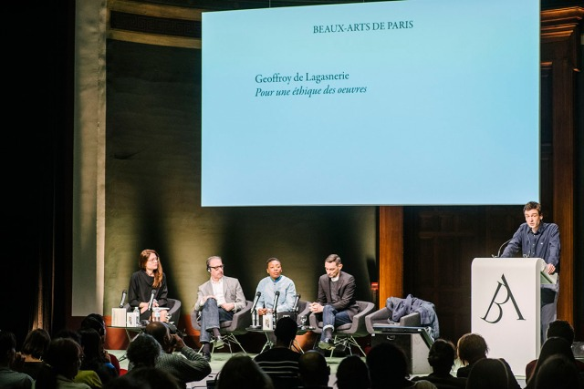 Colloque-Geoffroy de Lagasnerie photo Adrien THIBAULT - Beaux Arts de Paris 2017